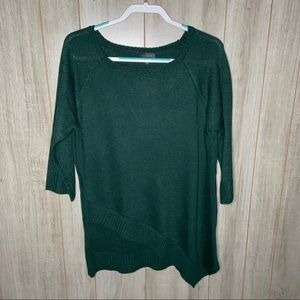 NWT | The Limited Asymmetrical Green Sweater | L